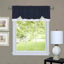 "Achim Home Furnishings, Navy/White DRVL14NW12 Darcy Window Curtain Valance, 58"" - $29.92"