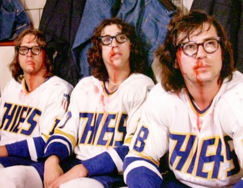 Primary image for Slapshot Hanson Brothers Paul Newman 11X14 Matted Color Movie Memorabilia Photo