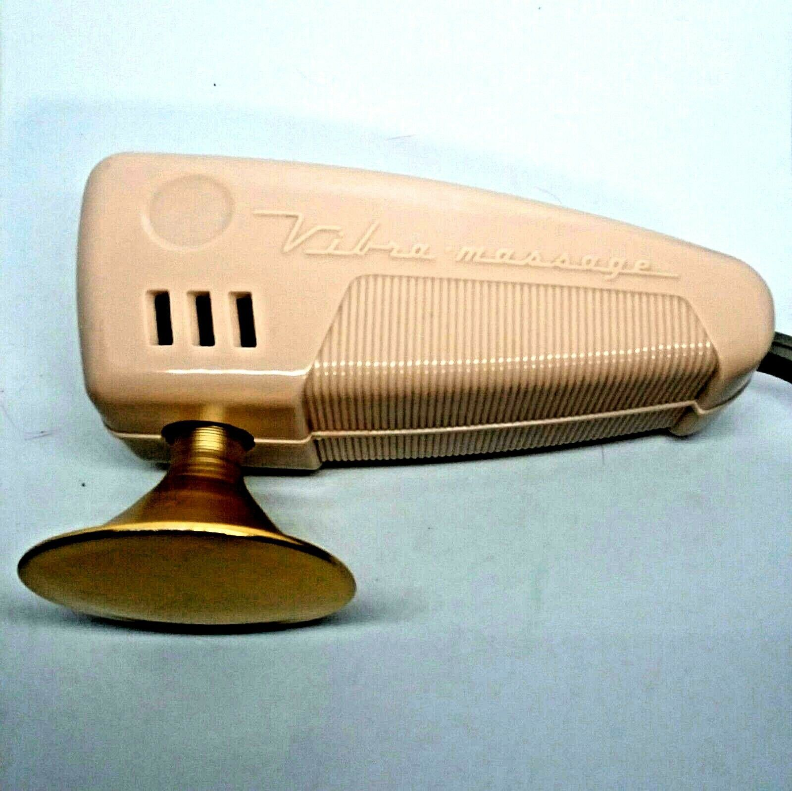 Vintage Oster Vibra Massager with Heat Option Pink Vtg  MCM Works Small Corded - $47.23