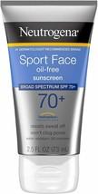 (Pack of 2) Neutrogena Sport Face Sunscreen Lotion, SPF 70+, 2.50 oz/73ml - New - $14.99
