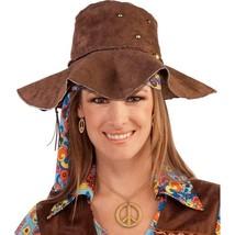 Hippie Brown Suede Floppy Hat - $16.41