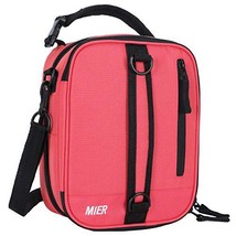 MIER Insulated Lunch Box Bag Expandable Lunch Pack for Men, Women, Pink - $17.70