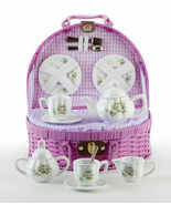 Delton Products Porcelain Pansy Tea Set for Two, Purple Basket 8146-7 - €35,05 EUR