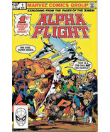 Alpha Flight Comic Book #1 John Byrne Autographed Marvel 1983 VERY FINE ... - $30.85