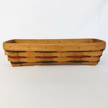 Longaberger Cracker Basket Woven Traditions 1993 Red Green Blue Thin Sla... - $16.78