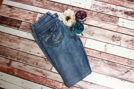 Silver Jeans Suki Flap Flare Denim Sz 26 2 L 32 Light Wash Distressed Wi... - $29.86