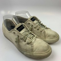 Sperry Top Sider 8.5 US M Women Athletic Sneakers Shoes White Mishall Tandy STS9 - $33.54 CAD