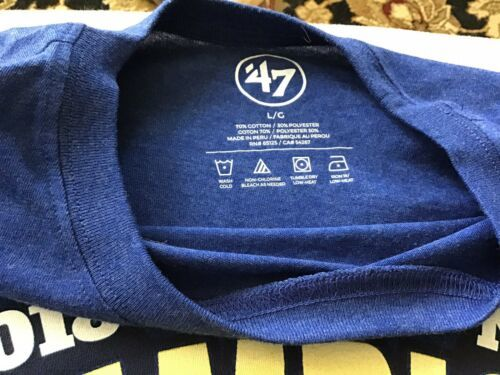 NBA Official 2018 Champion T-shirt '47 Brand Size L NEW Free Shipping Warriors image 3