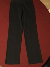Girls New Size 14 Regular Nautica pants uniform navy blue slim fit  - $14.79