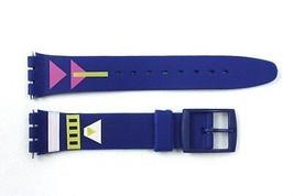 17mm Uomo Freccia con Motivo Ricambio Blu Orologio Cinturino per Swatch - $8.91