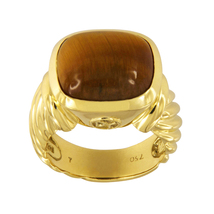 David Yurman Noblesse Tiger's Eye 18K Gold Ring - $1,450.00