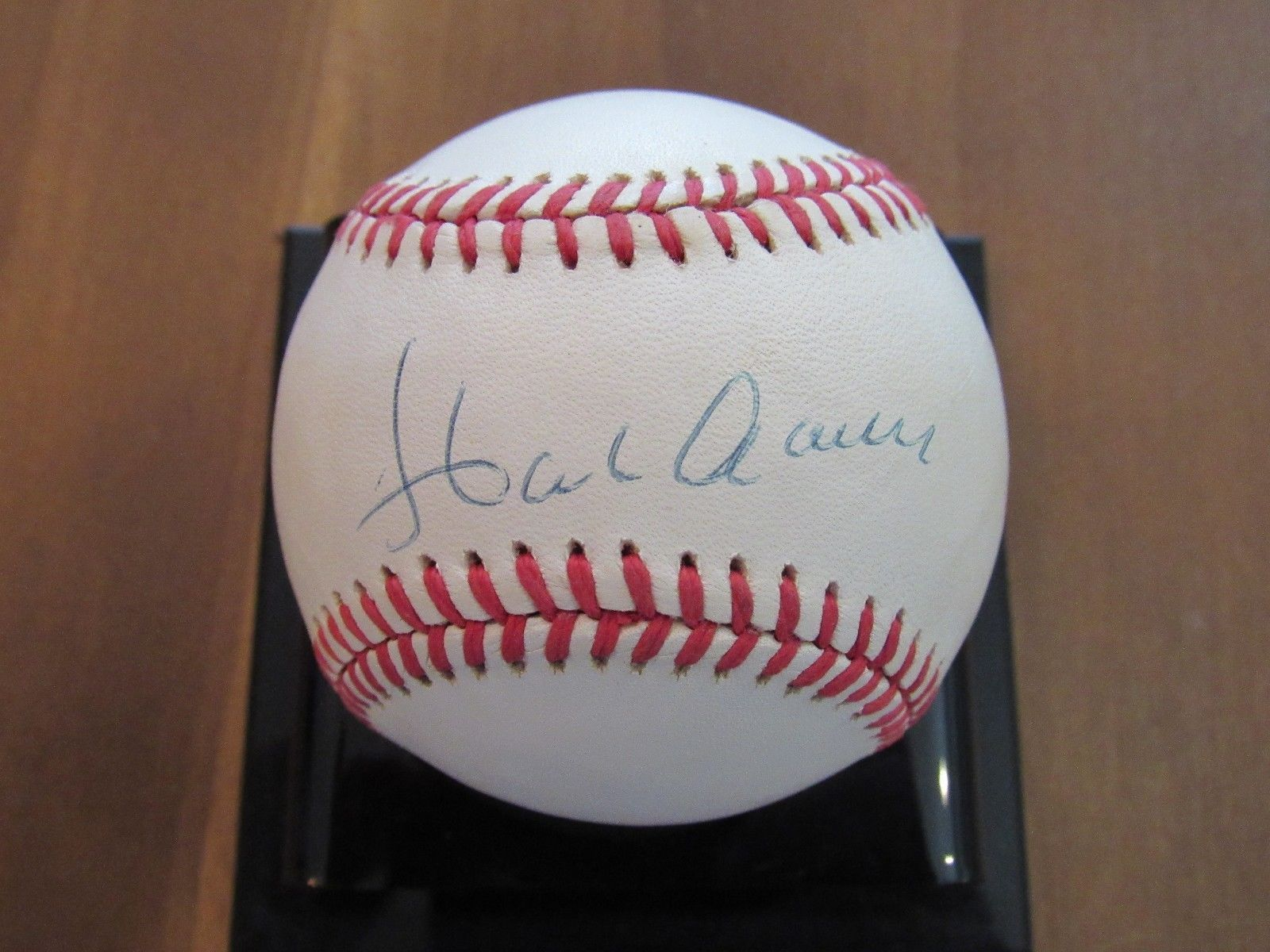 Primary image for HANK AARON BRAVES BREWERS HOF SIGNED AUTO VINTAGE BASEBALL JSA LETTER BEAUTY