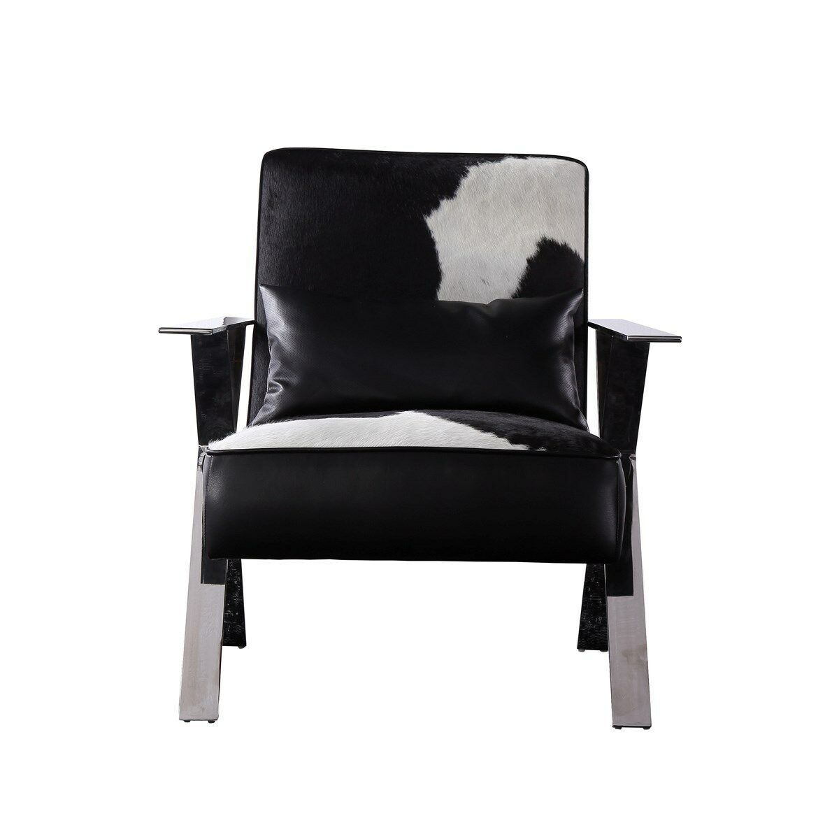 Leather Cowhide Pub Club Chair Awesome Modern  Contemporary Design,30'' x 36''H.