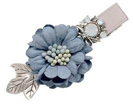 2 Pcs Sweet Hair Ornaments Flower Hairpinside Clip Duckbill Hairpin,Grey Blue