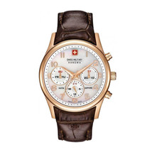 Women Quartz Watch Swiss Military-NAVALUS_MULTIFUNCTION_06-6278_09 Brown Leather - $197.19