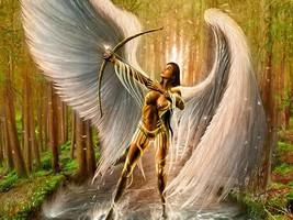 FEMALE WATCHER Djinn icelandic Genie GUARDIAN  Protector Ancient power - $87.77