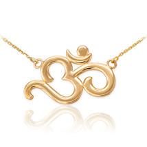 14K Polished Gold Om (Aum) Yoga Necklace - $199.99+