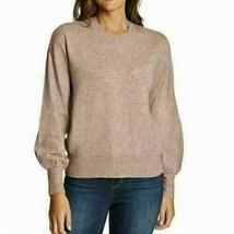 Ella Moss Women's Puff Sleeve Sweater, Cloud Pink Large - NEW - $29.99