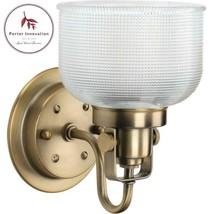 Archie 1-Light Vintage Brass Bath Light - $70.31