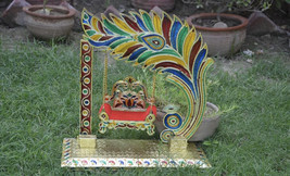 Beautiful Lord Krishna Jhula ( for size 0, 1, 2, 3 no idol ) Laddu Gopal... - $41.90