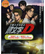 Anime DVD Initial D Stage 1-6 + Movie 1-3 + 2 Extra Stage + 2 Battle Sta... - $42.99