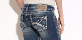 SILVER JEANS SHORTS Distressed Super Low Tuesday Denim Stretch Jean Mid ... - $34.97