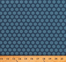 Something Blue Edyta Sitar Polka Dots Delft Cotton Fabric Print By Yard ... - $12.49