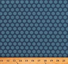 Something Blue Edyta Sitar Polka Dots Delft Cotton Fabric Print By Yard D379.27 - $12.49