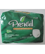 """PREVAIL Extra Absorbency Underwear Youth Sm Adult 20"""" - 34"""" QTY 19 - $8.79"""