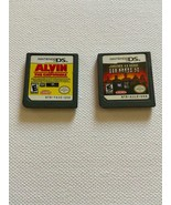 LOT of 2 NINTENDO DS GAMES  ~ Alvin and the Chipmunks, Justice League He... - $6.65