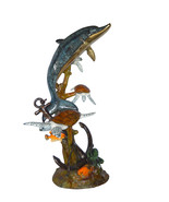 "Dolphin with Three Turtles Fountain Bronze Statue -  Size: 43""L x 47""W x... - $8,900.00"