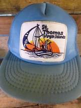 St Thomas VIRGIN ISLANDS Vintage Patch Mesh Trucker Snapback Adult Hat Cap  - $19.79