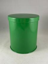 "Vintage Retro Green Metal Tin Kitchen Canister Box  4.25""H x 3.75""D  W. ... - $11.40"