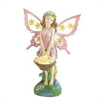Pink Fairy Garden Decor Solar Statue - $18.45
