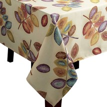 "Croscill Mosaic Leaves Fabric Tablecloth 60"" x 120"" - $32.68"