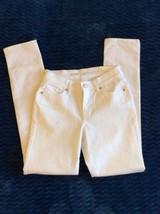 White denim Jeans Old Navy Curvy Mid Rise Straight Leg Womens 0 New - $19.99
