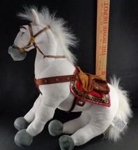 "Disney Store White Stuffed Plush RAPUNZEL Tangled MAXIMUS HORSE 15"" Pose... - $19.79"