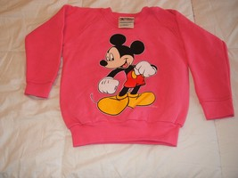 Mickey Mouse on a Coral Youth Sweatshirt size XS/4-6  - $16.00