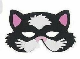 Chat Noir Masque (Rose Oreilles), Enfants Mousse Eva Animal Masques, Dég... - $1.60 CAD