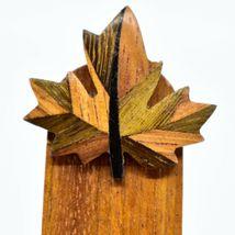 Northwoods Canadian Maple Leaf Parquetry Wood Bookmark image 3