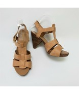 Franco Sarto Womens Shoes Sandals heels Strappy Natural Upmost Size US 7 M - $49.45
