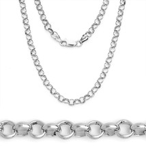 2.1mm 925 Sterling Silver w/ Rhodium Open Rolo Cable Link Chain Italian ... - $17.81+