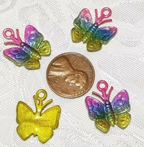 COLORFUL BUTTERFLY FINE PEWTER CHARM - 17x21x2mm C434EP image 2