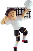 VOLLEYBALL PLAYER CHRISTMAS ORNAMENT MALE BRUNETTE GIFT HOLIDAY PRESENT ... - $13.81