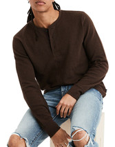 American Eagle Mens Brown Beyond-Soft Henley Thermal Shirt Sz X-Large XL... - $24.05