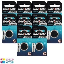 10 Rayovac CR2450 Lithium Battery 3V Cell Coin Button Watch Exp 2026 540mAh New - $21.23