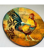 """Certified International  RUSTIC  ROOSTER  """"Trompette Matin"""" Salad Plate ... - $22.52"""