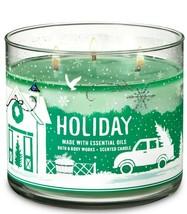 BATH & BODYWORKS Holiday 14.5 OuncesThree Wick Candle - $28.48