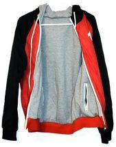 True Religion Red & Navy Blue Lined Reversible Windbreaker Hooded Jacket Size S image 6