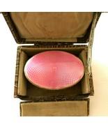 Vintage Sterling Silver Guilloche Art Deco Pink Enamel Brush 1920-30`s w... - $193.52